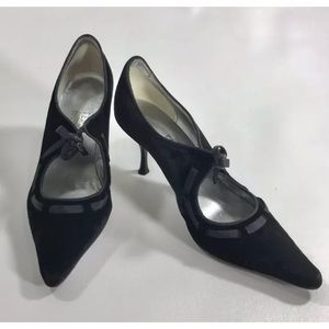 salvatore ferragamo  Velvet Ribbon Pumps Size 7 B